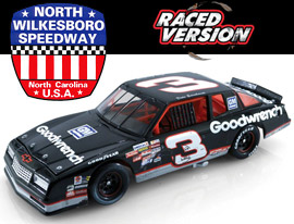 1989 Dale Earnhardt #3 Goodwrench - North Wilkesboro Win / Raced Diecast, by Action