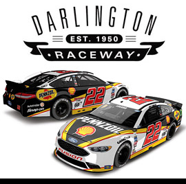 2016 Joey Logano #22 Shell-Pennzoil - Darlington Diecast, by Action