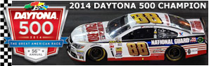 2014 Dale Earnhardt Jr #88 National Guard - Daytona 500 Win / Raced Diecast, by Action